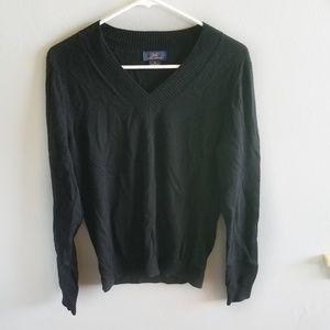 Brooks Brothers 346 Medium Wool V Neck Sweater